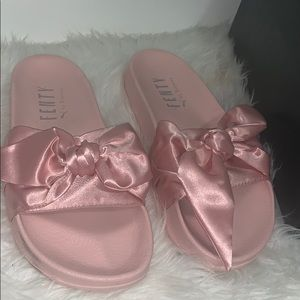 sports shoes 74266 c6f7b Women Puma Fenty Slides Pink on Poshmark
